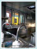 Carrello mobile d'offerta dell'alimento con una finestra alzata di vendite,