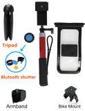 Insieme completo del kit del bastone impermeabile di Selfie e sacchetto impermeabile con il telefono mobile