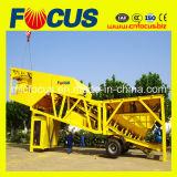 25cbm, 35cbm, 50-60cbm, 75cbm/H Mobile Concrete Mixing Plant para Sale