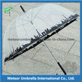 PVC Transparent Apollo Bubble Umbrella de 23inches Straight Auto Open