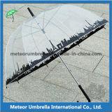 23inches Straight Auto Open PVC Transparent 아폴로 Bubble Umbrella