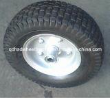 手押し車の車輪の鋼鉄縁のゴム製車輪5.00-6