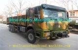 Sinotruk 6X6 toute la couleur verte de camion de cargaison d'entraînement de roue pour la roue de secours et le dormeur du chargement With1 des marchandises 40t