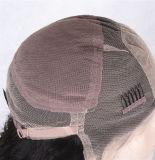 Peruca cheia da parte dianteira do laço de Handtied do cabelo humano de Remy do Virgin