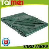 Encerado verde durable tratado ULTRAVIOLETA de la yarda para la cubierta