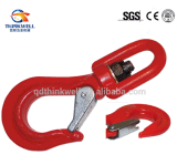 Latch를 가진 하락 Forged Red Colour Swivel Safety Hoist Hook