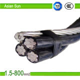 AAC Wire ACSR Netural Cable 4 AWG Triplex Aluminium Clam ABC Cable
