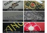 Kundenspezifische hochwertige billig geprägte Druck-Firmenzeichen-Jeans-lederne Änderung am Objektprogramm, Jeans-Kennsatz-lederne Kleid-Marke
