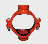 Ductile standard Iron Grooved Mechanical Cross avec FM/UL Approval