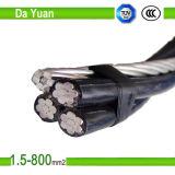 0.6kv 1kv PVC XLPEによって絶縁されるアルミニウムワイヤー2*16 mm2 ABCケーブル