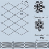 Edelstahl-Kabel-Netz des Grad-316, Edelstahl-Seil-Ineinander greifen, X neigen Ineinander greifen