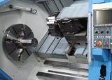 Torno horizontal automático do CNC da broca do transporte de microplaqueta