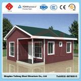 Casa moderna de la casa prefabricada de la estructura de acero del diseño de la construcción