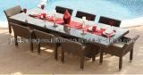 屋外の使用された杖の家具の庭のダイニングテーブル(FP0091)