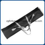 La alta calidad Diplay de acero plástico bajo ancho del certificado del SGS rueda para arriba el soporte de la bandera