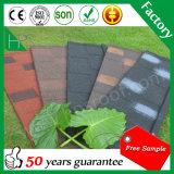 Feuille colorée enduite de toiture plate de tuile de toiture d'installation de pierre matérielle facile durable légère de toit