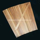 Pauzinhos de bambu com logotipo personalizado com mangas de papel / capa