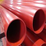 Pijpen van het Staal van de Sproeier van de Bescherming van de Brand van UL/FM ASTM A135 Sch10 de Rode Geschilderde