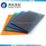 El cubrir plástico del policarbonato hueco colorido para la decoración