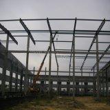 Helles Stahlmetalldach-gestaltende vorfabrizierte Werkstatt