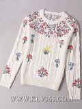 Le donne di modo hanno lavorato a maglia il maglione del cachemire delle lane