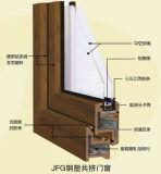 Guichet en aluminium en bois de spire et d'inclinaison de prix concurrentiel