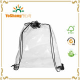 Effectué de PVC Backpack de PVC Used Sport Drawstring Transparent de Clear