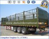Il bestiame che trasporta il palo/rete fissa semi trasporta il rimorchio su autocarro