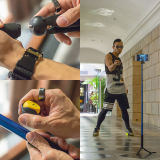 Kit extensible del palillo de Bluetooth Selfie del clip plegable para Smartphone