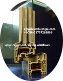HuazhijieのプラスチックUPVCによって修復されるWindowsの振動Windowsの回転および傾きのWindowsのスライディングウインドウ