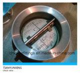 Clapet anti-retour de guindineau à deux disques de disque d'acier inoxydable de norme ANSI