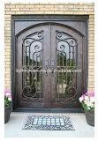 外部の位置の装飾的な機密保護の鉄のドア