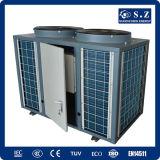 Salvar la agua caliente eléctrica alto Cop4.28 12kw, 19kw, 35kw, pompa del mantiene 55deg c del 70% de calor del aire del calentador de la charca de pescados de 70kw R410A