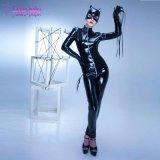 최신 나이트 클럽 착용 열려있는 흉상 지퍼 PVC 가죽 Catwoman L60815