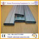Машина плоския канала столба быстрой скорости гальванизированная напряжением стальная ровная