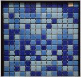 Modelo de mosaico de cristal de cristal azul del azulejo de mosaico de la alta calidad de la fuente del chino para la piscina