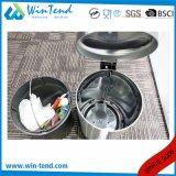 Cubo de basura del pedal de la desaceleración del acero inoxidable