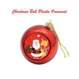 ornamentos plásticos de la bola de la Navidad en blanco redonda imprimible de los 8cm