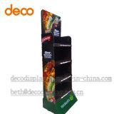 Bildschirmanzeige-Pappbildschirmanzeige-Regal der Papierfußboden-Imbisse für Einzelverkauf
