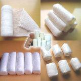 Vendaje elástico médico disponible del Crepe de la gasa del algodón de A153 PBT (conformación)