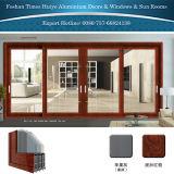 Preço de alumínio da porta de Junsun para o material de construção comercial