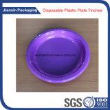 Placas coloridas de plástico descartável