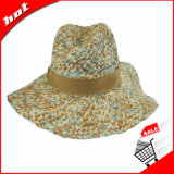 Chapéu de palha flexível do Raffia do chapéu da mistura de cor