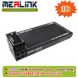 1X4 Durante Individual Cat5e / 6 HDMI Extender con 3D