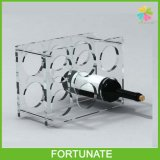 Porte-bouteilles en acrylique transparent pour bouteille de vin Porte-bouteilles Perspex