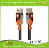 Support 4k*2k/60Hz orange/schwarzes der Farben-HDMI 2.0V Kabel
