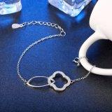 Vendita calda un braccialetto d'acciaio dai 925 Sterling la maggior parte del braccialetto d'argento di colore personalizzato inserzione popolare di Zircon