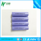Batterie au lithium-ion Li-ion 18650 2200mAh 3c pour éclairage LED