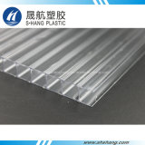 Placa de pared doble del policarbonato plástico de 4 ~ 12m m por el 100% Bayer