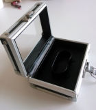 Caja de aluminio / cuero de lujo de reloj caja de embalaje de visualización (AL14)